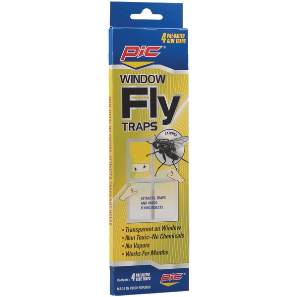 PIC FTRP Window Fly Traps 4 pk