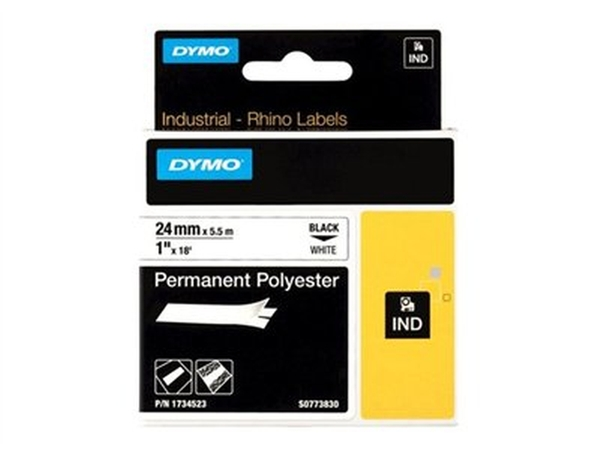 DYMO CORPORATION RHINO 1WHITE PERMANENT POLY