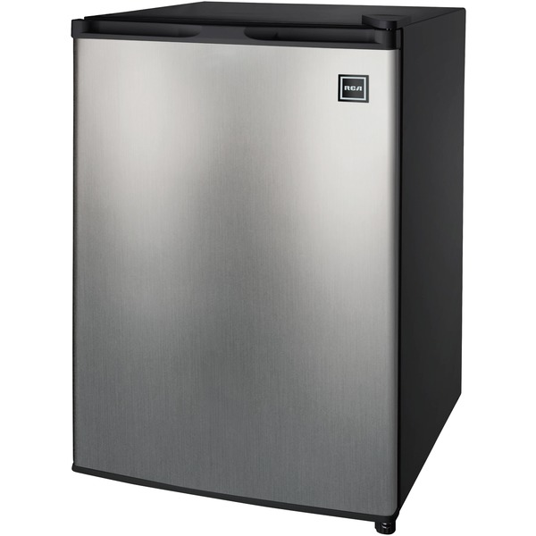 RCA RFR283-STAINLESS-COM 2.6 Cubic-ft Single Door Refrigerator (Stainless Steel)