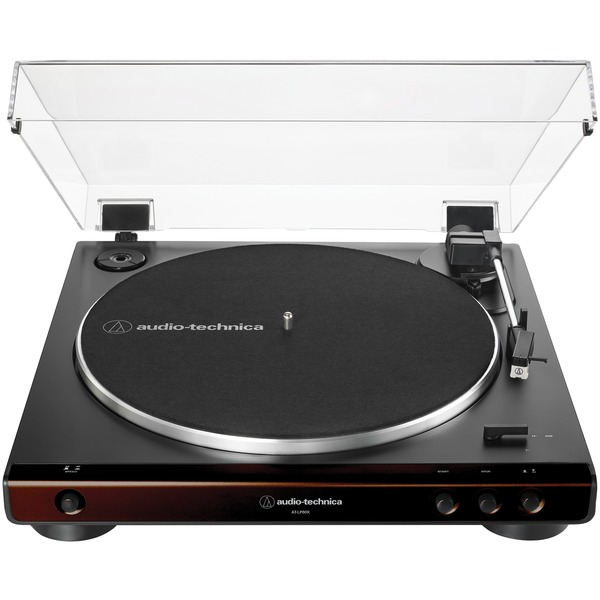 Audio-Technica AT-LP60X-BW Fully Automatic Belt-Drive Turntable (Brown)