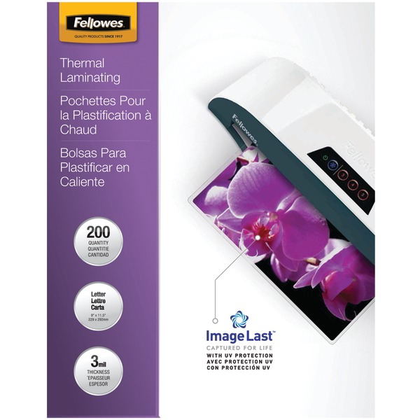 FELLOWES 5244101 ImageLast(TM) Laminating Pouches Letter 200pk (3Mil)
