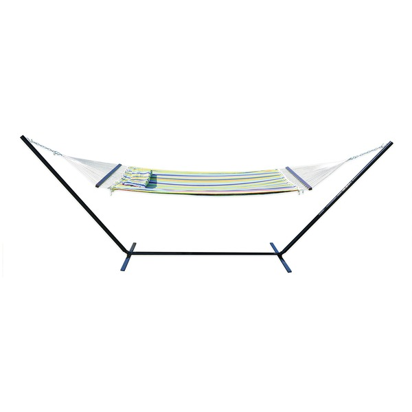 Stansport 30900 Antigua Double Polyester Hammock with Stand