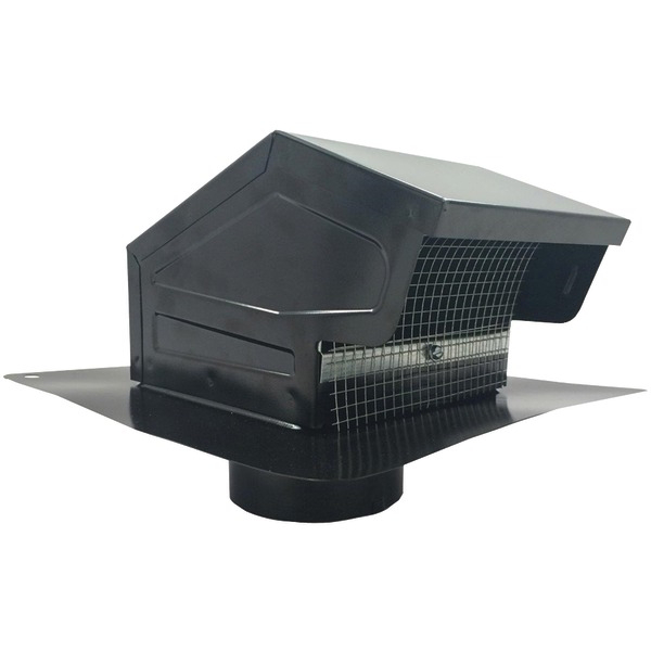 BUILDERS BEST 012635 Black Metal Roof Vent Cap (4