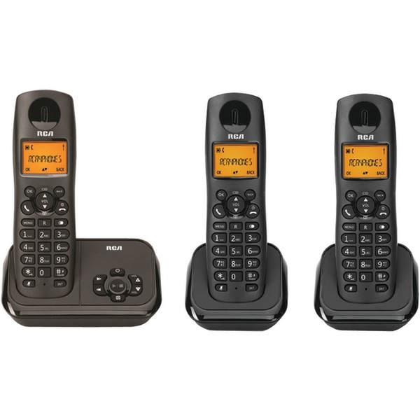 RCA Consumer DECT 6.0 Cordless with ITAD and 3-HS
